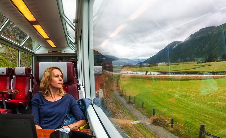 Женщина в поезде