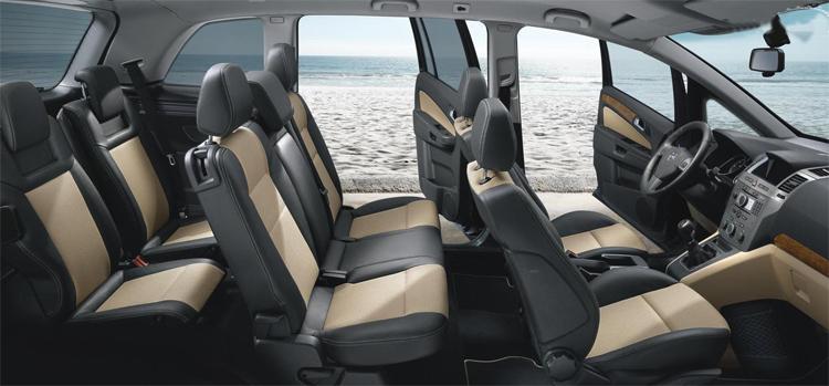 Opel Zafira внутри