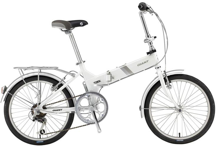 Красивый складной велосипед