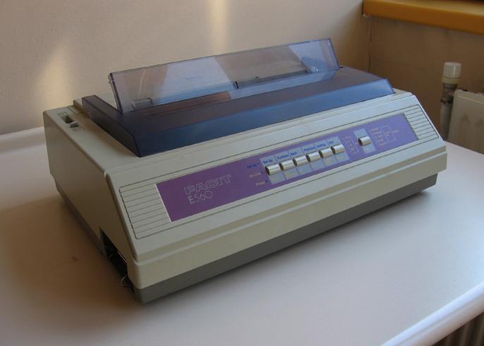 Старенький матричный принтер