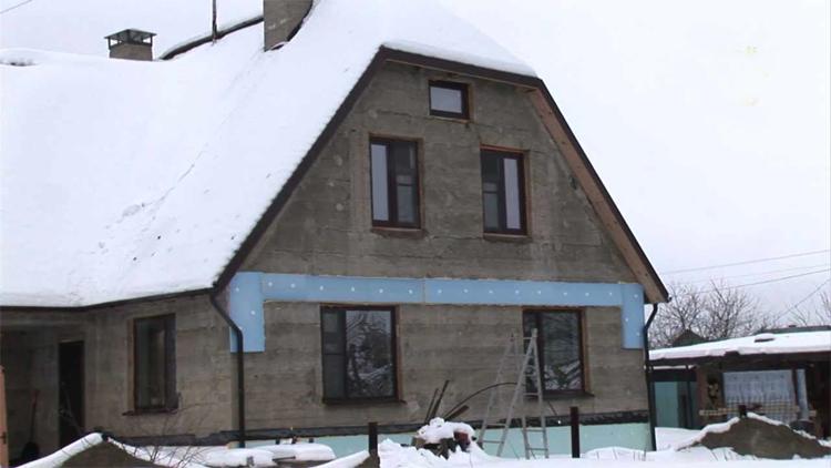 Новый дом из бетона