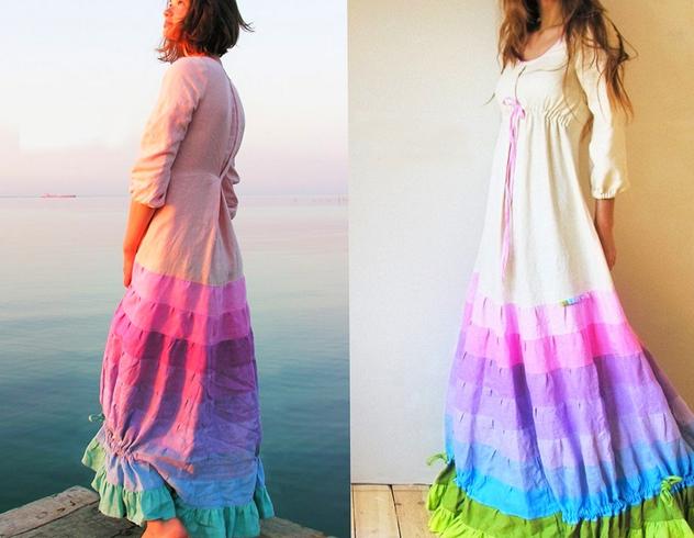 Платье из льна