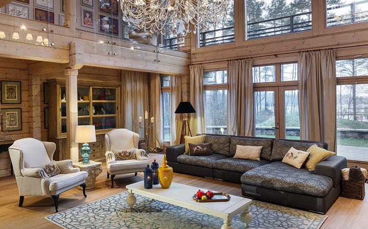 Роскошный дом со вторым светом