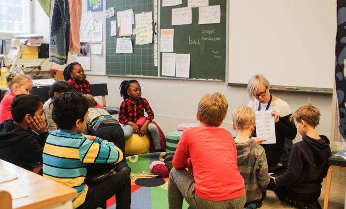 Урок в финской школе