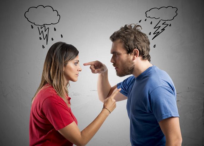 Муж и жена ссора