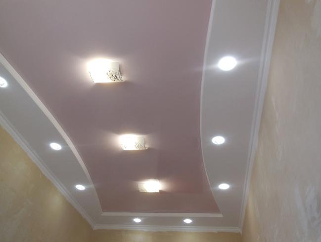 Новый потолок из гипсокартона