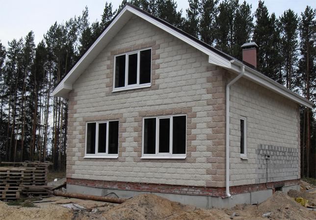 Еще один дом из шлакоблоков