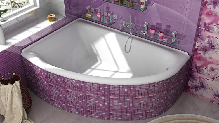 Красивая ванна из литого мрамора