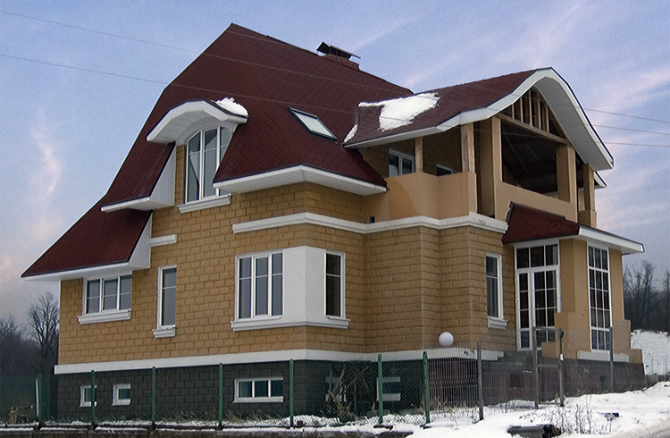 Красивый дом из теплоблоков