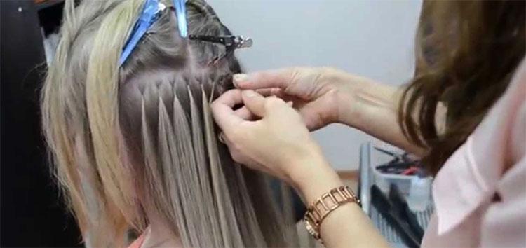 Капсульное наращивание волос - процедура