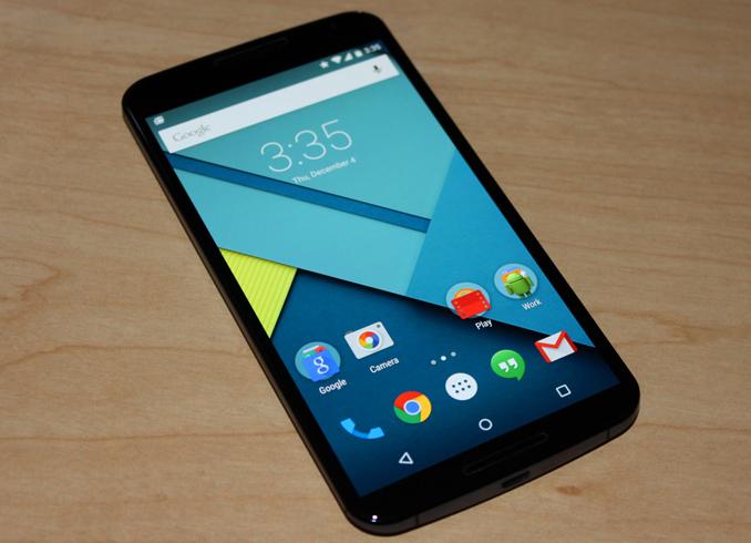 Интерфейс Android 5.1