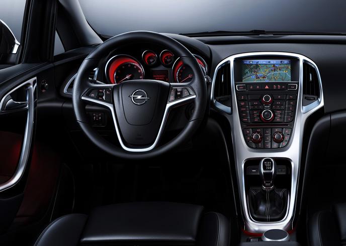 Салон Opel Astra J