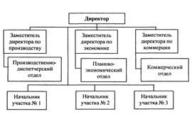 Линейно функциональная организационная структура схема