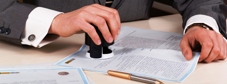 Печать на договоре