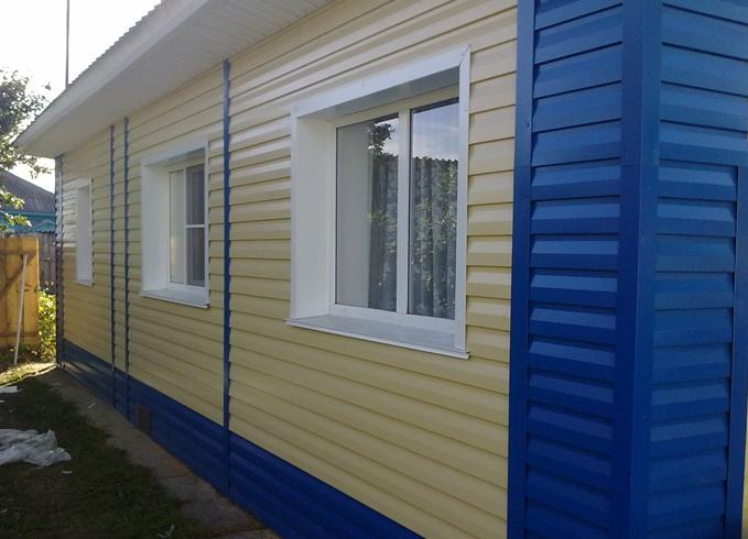 Фасад из сайдинга