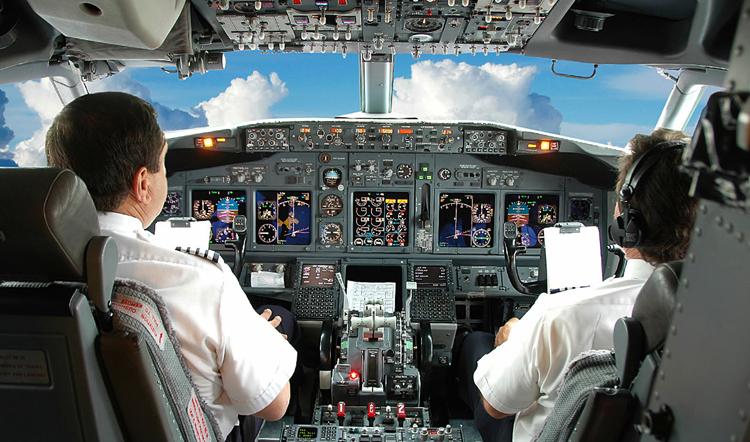 Пилоты в полете
