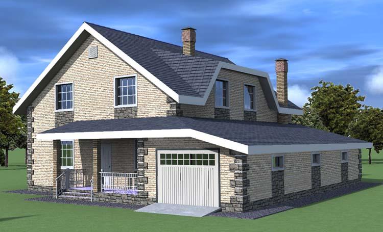 Красивый дом с гаражом