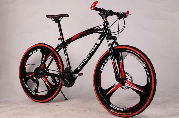 Горный велосипед с литыми дисками