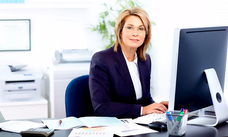 Секретарь на работе