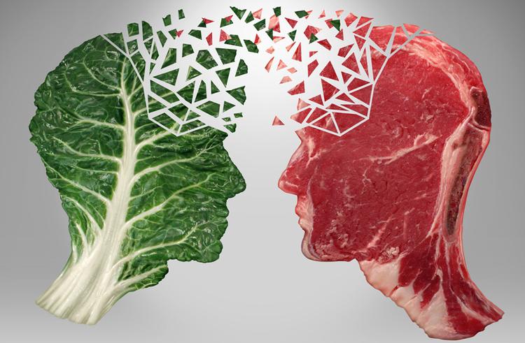 Зелень и мясо