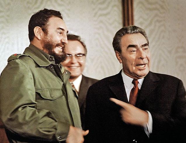 Брежнев и Кастро