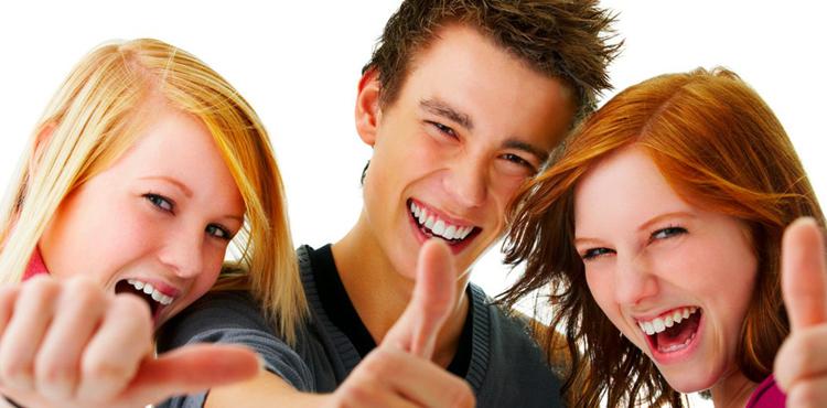 Веселый подростки