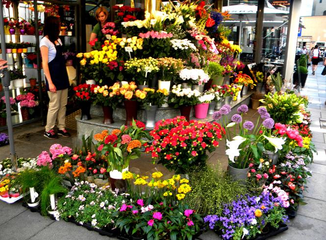 Красивый магазин цветов
