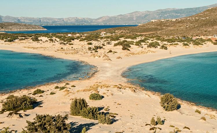 Красивый пляж Греции