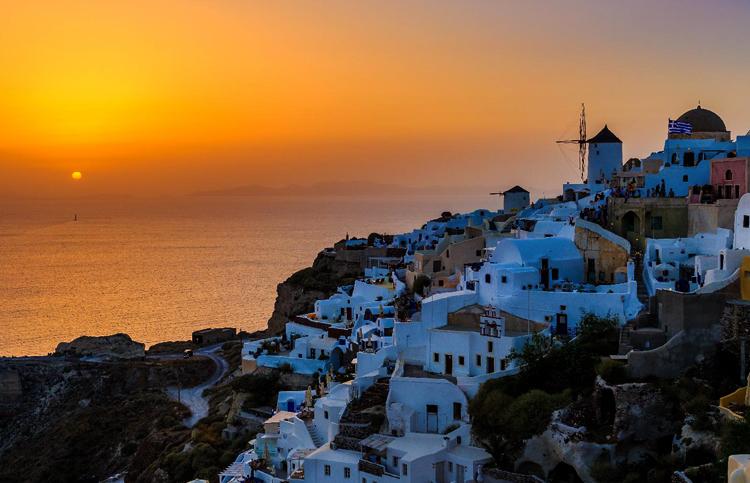 Красивый греческий остров