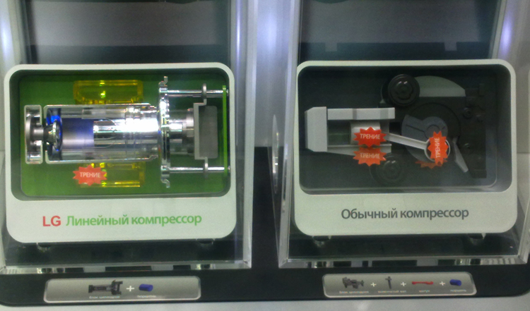 Обычный и линейный компрессоры