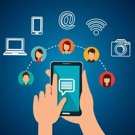 Общение через смартфон