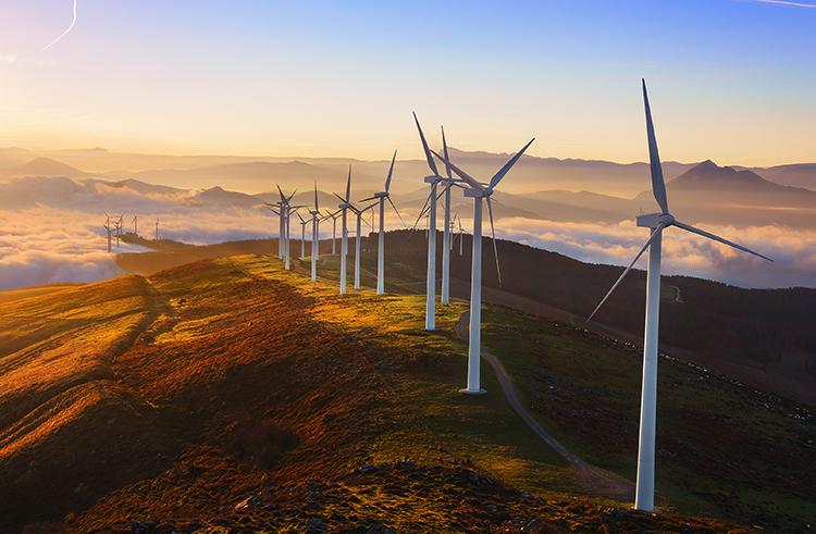 Современная ветровая электростанция