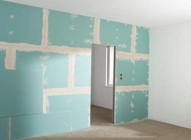 Установка стен из гипсокартона