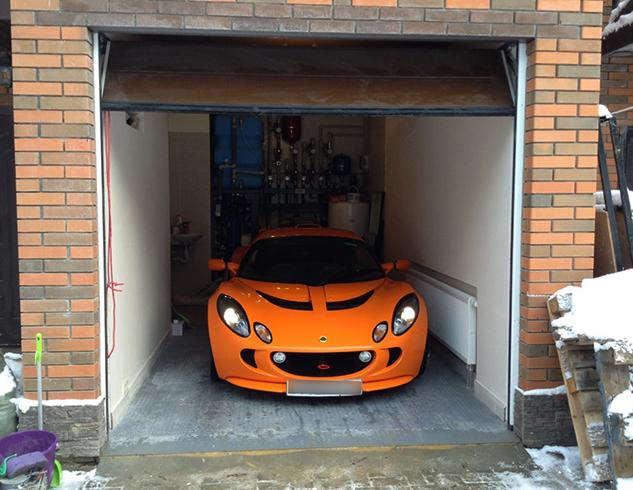 Современный теплый гараж