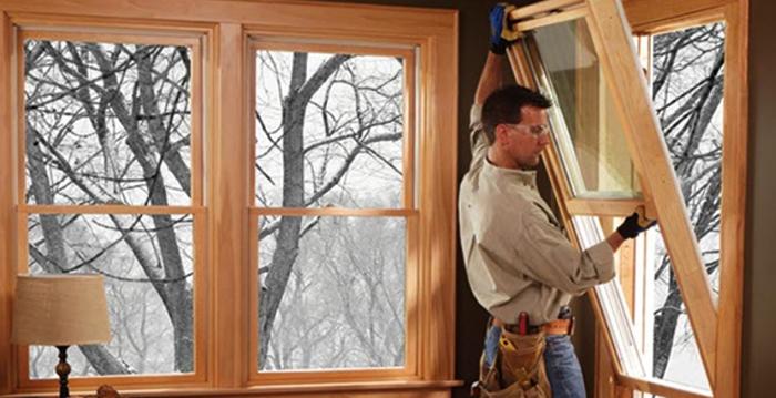 Новые окна зимой