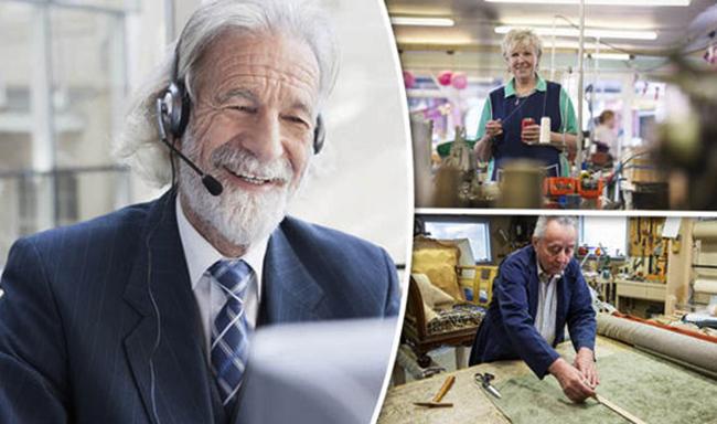 Пенсионеры на работе
