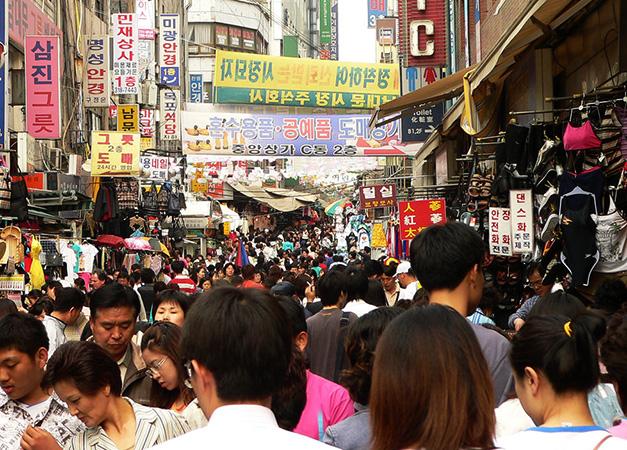 Толпа в Корее