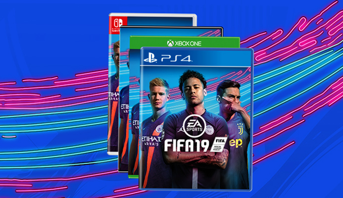 Диски с игрой Fifa 2019