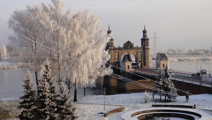 Красивый зимний Калининград