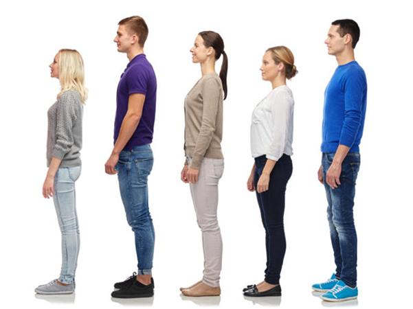 Люди с разным ростом