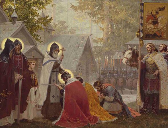 Воины и священник