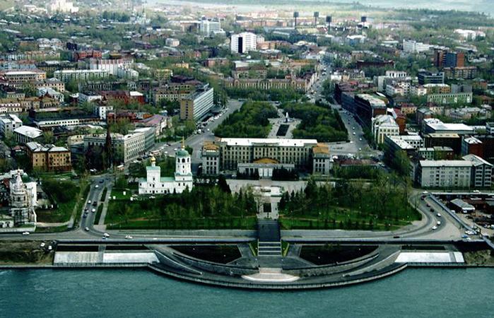 Вид на Иркутск
