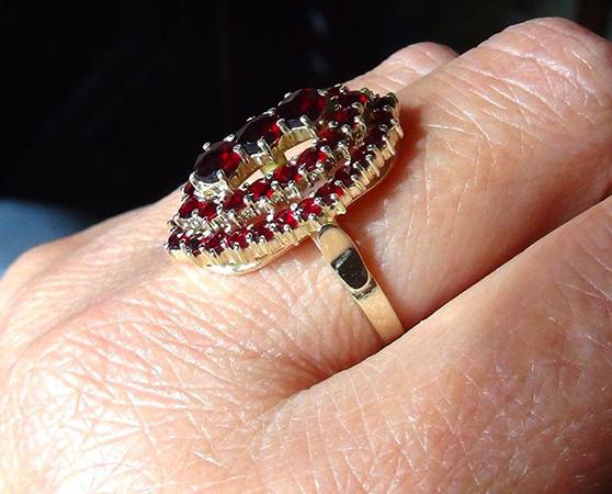 Кольцо с позолоченном серебром