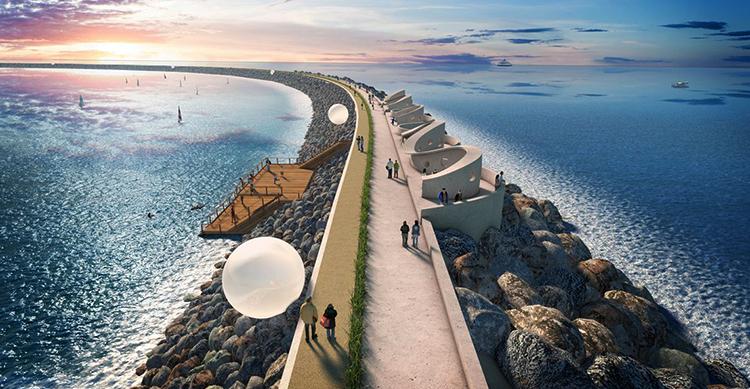 Красивая приливная электростанция
