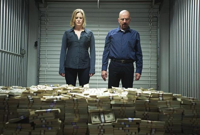 Персонажи сериала с деньгами