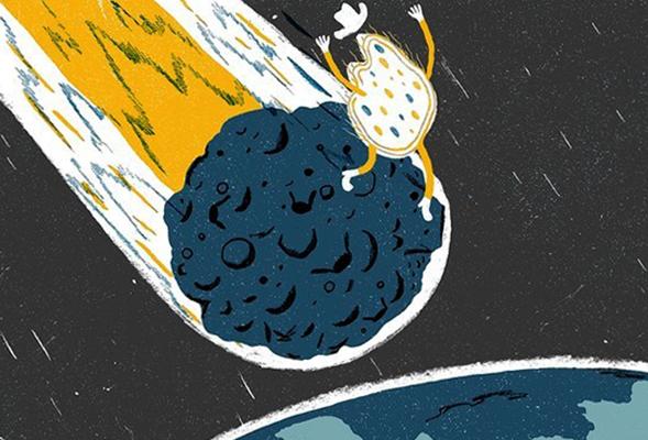 Микроорганизм падает на землю