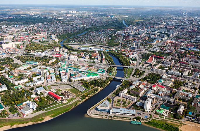 Вид на города Омск