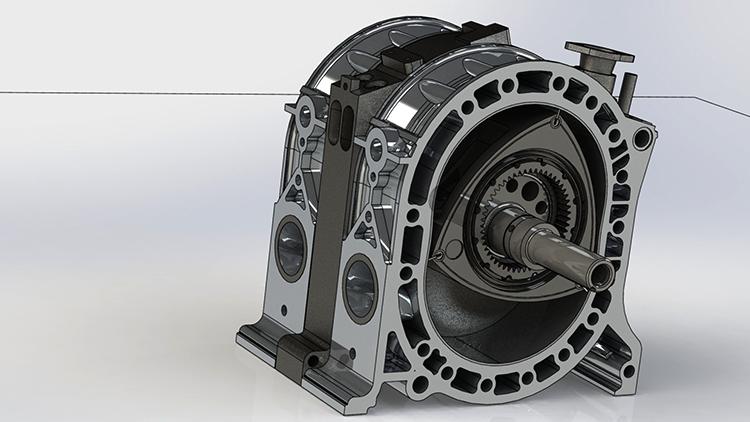 Как выглядит роторный двигатель