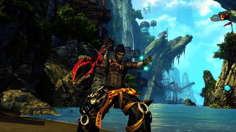 Герой из игры Blade & Soul