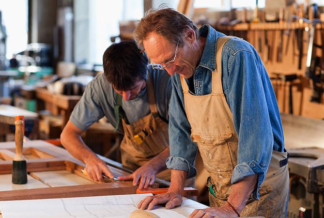 Отец с сыном в бизнесе